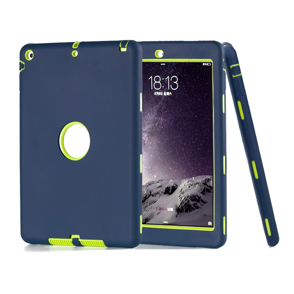 Drop Resistance Case For Apple iPad 5 For iPad air 1 Color Robot Protective Shell Solid Cover Heavy Shockproof Cover Case scomas tablet pc case for apple ipad 5 air 1 drop resistance cover protective with hand strap fashion pirate king stand bracket