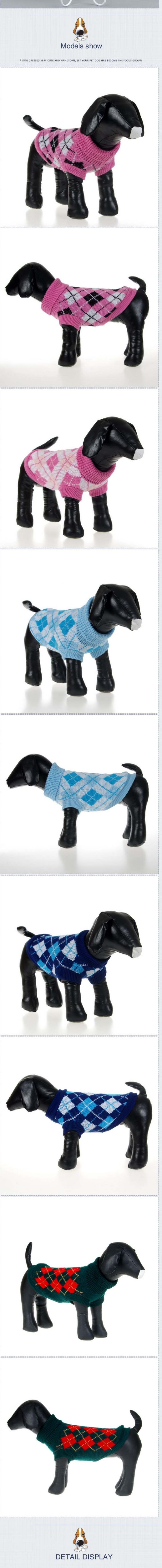 Pet Dog suéter sweatershirt Invierno Caliente knit knited crochet ...
