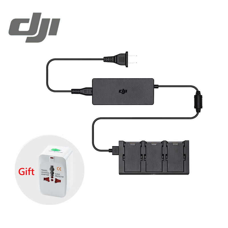 DJI Spark Battery Charger Hub AC Power Adapter Intelligent Flight Battery Charger Original dji spark drone 3 in 1 car charger battery charging