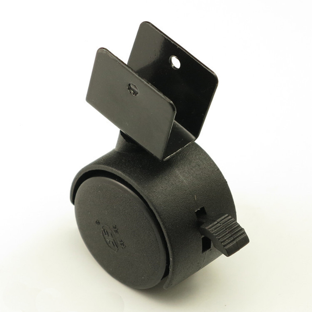 Negro 40mm reemplazo giratorio Ruedas Oficina silla cuna sofá freno ...