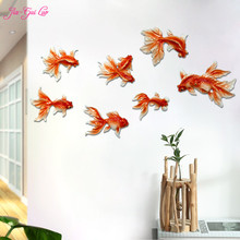 JIA-GUI LUO Creative Resin goldfish living room Mediterranean home wall sticker restaurant bedroom pendant L008