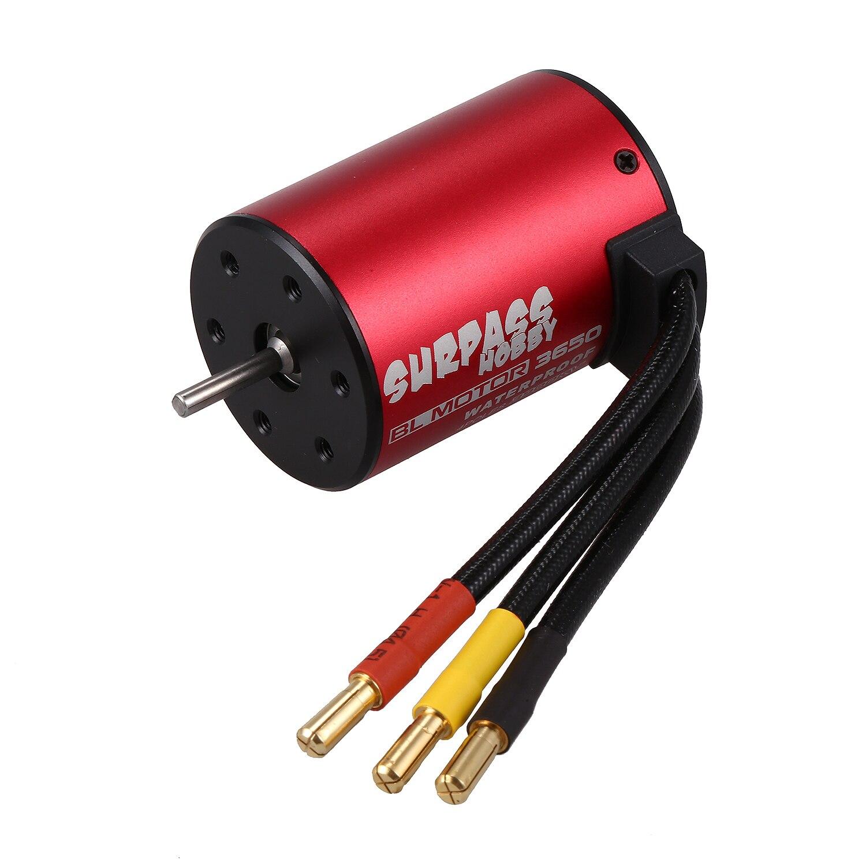 SURPASS HOBBY S3650 3900KV Sensorless Brushless Motor for 1/10 RC Car