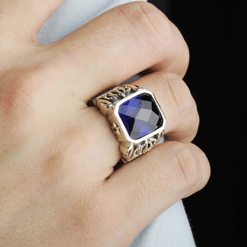 925 silver male ring original design vintage ring male-in Rings ...