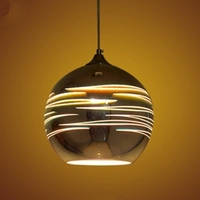 LuKLoy LED Pendant Lights Mirror Glass Ball Planet Sitellite Pendant Lamp for Loft Restaurant Bar Dining Room Kitchen Island
