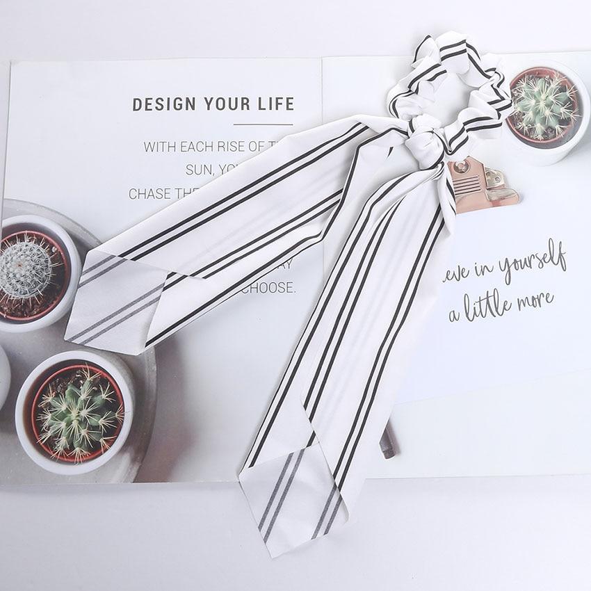 Levao fleur impression cheveux écharpe arc chouchous queue de cheval bandeau pour femmes cheveux accessoires nœud papillon élastique cheveux corde bandeaux 13