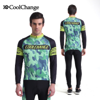 CoolChange Cycling Clothing Long Sleeve Cycling Jersey Set Mountain Bike Road Bike Cycling Jersey Get Pirate