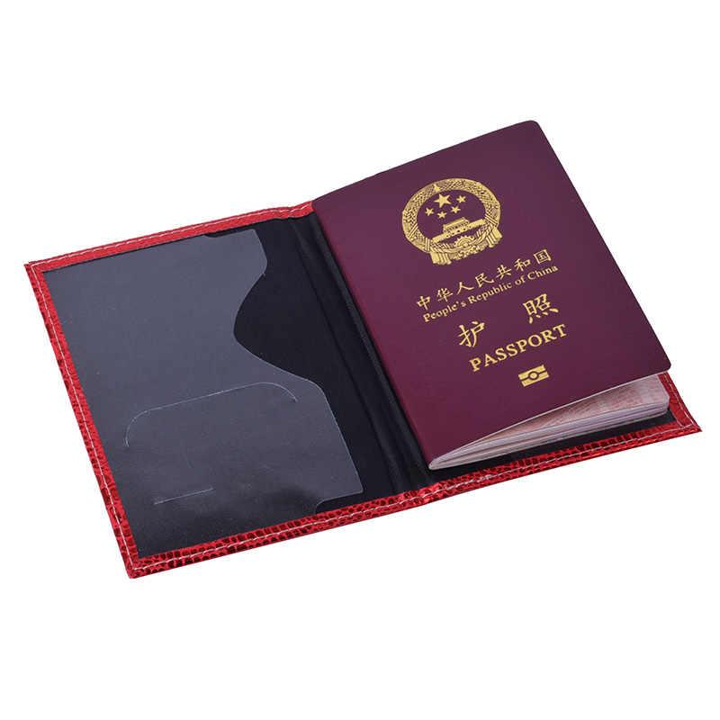 Ruso de cocodrilo cuero titular de pasaporte hombres pasaporte cubierta mujeres pasaporte caso pasaporte protector para desplazamiento documento