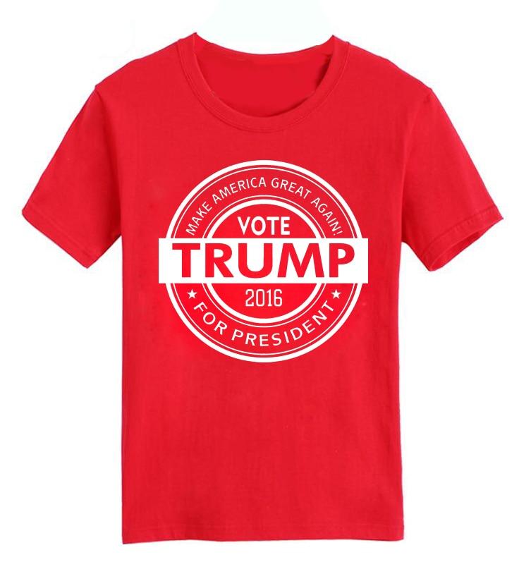 42296d033d Voto voto trump Trump Hacer Grande a Estados Unidos de Nuevo 2016 verano  caliente Hombre de encargo Más Nuevo de la camiseta de Algodón de Manga  Corta del ...