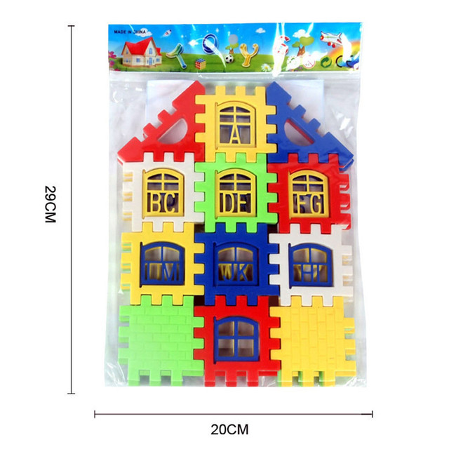 24pcs Baby House Building Blocks Construction Toy