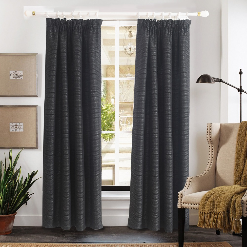 ComforHome Jacquard Fauxseide Fenster Vorhang Bleistift Plissee Vorhnge Blackout Fr Schlafzimmer Traumhafte 1