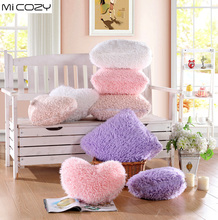 Berber Fleece Fluffy Heart Cushion with Zipper Sofa font b Pillow b font Plush Toy Gift