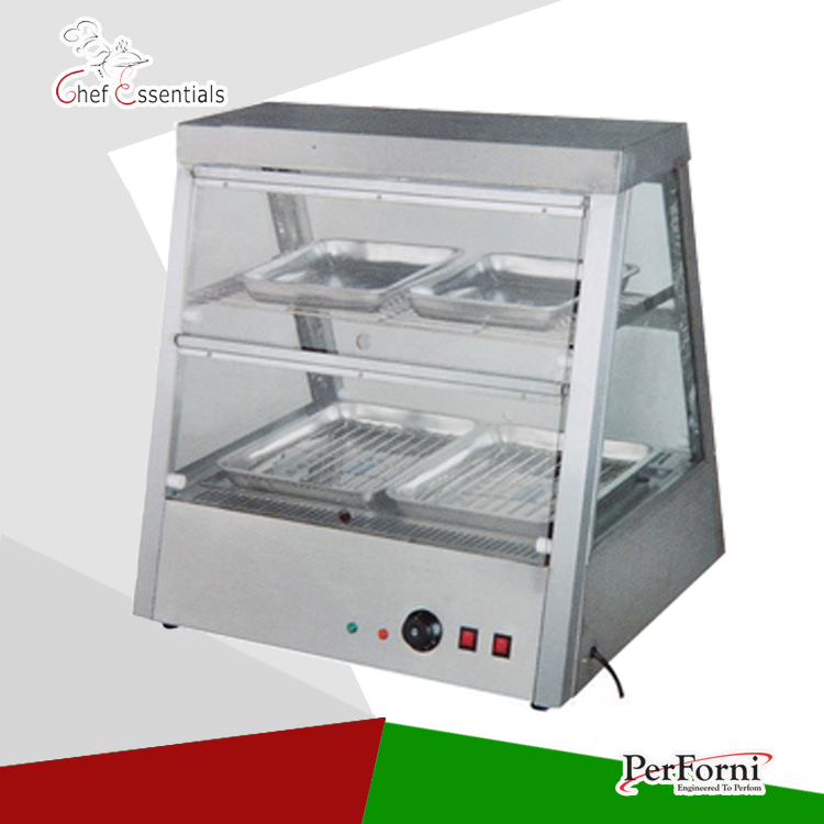 PKJG-DH2X2 stainless steel fast food warmer food warmer fast food equipment food warming cabinet fast food leisure fast food equipment stainless steel gas fryer 3l spanish churro maker machine