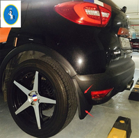 Black Plastic Mud Flaps Guards Fenders Mudguards For Renault Captur 2014 2015
