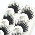Escassa Cruz Natural Falso Eye Makeup Lashes Extensão Tira Completa Natural Longas Pestanas Falsas Ferramentas de Fibras Sintéticas