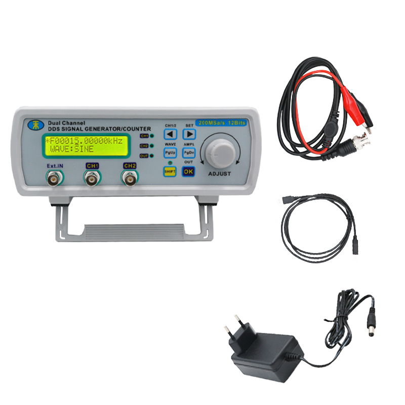 цена на MHS-5200A Digital Arbitrary Waveform Frequency Meter DDS Dual-channel Signal Source Generator for laboratory teaching 25MHz 46%