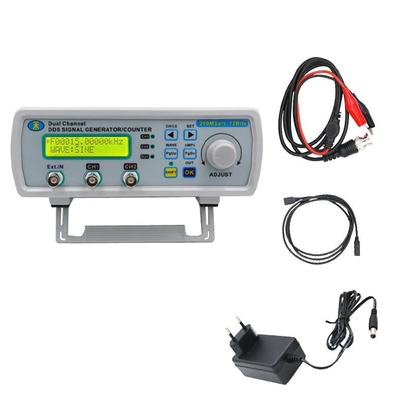 купить MHS-5200A Digital Arbitrary Waveform Frequency Meter DDS Dual-channel Signal Source Generator for laboratory teaching 25MHz 46% по цене 3937.51 рублей