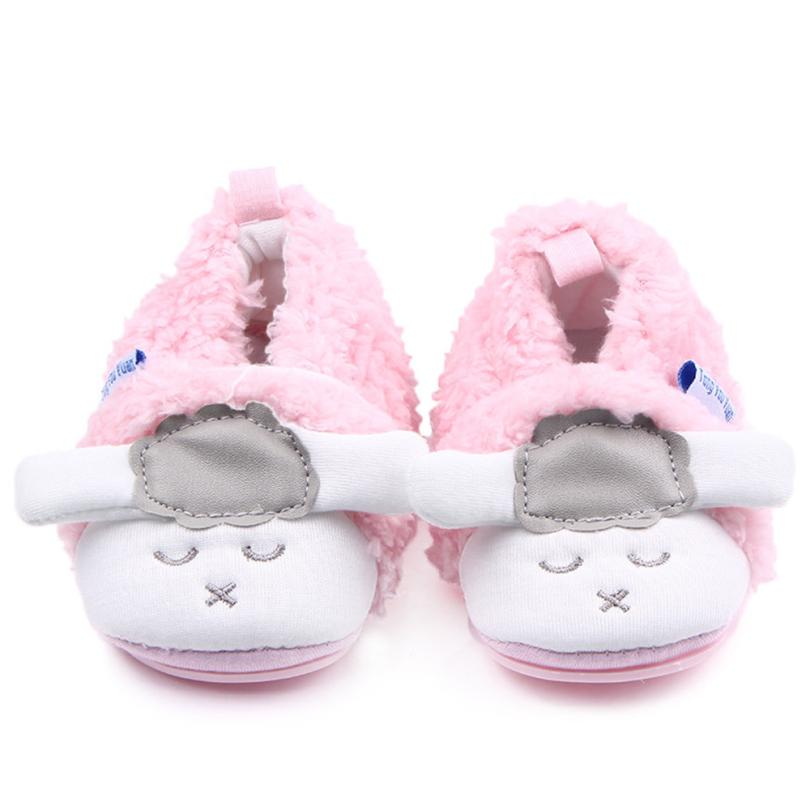 High Quality baby shoes first walker New Cute Little Sheep Anti-slip New Born Baby Shoes Super warm Casual Shoes Dropshipping