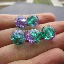 Purple Glass Beads Green