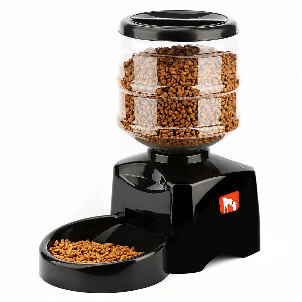 5.5L автоматическая кормушка для домашних животных с голосовым сообщением запись и ЖК-экран большой умный собаки кошки еда чаша дозатор това...
