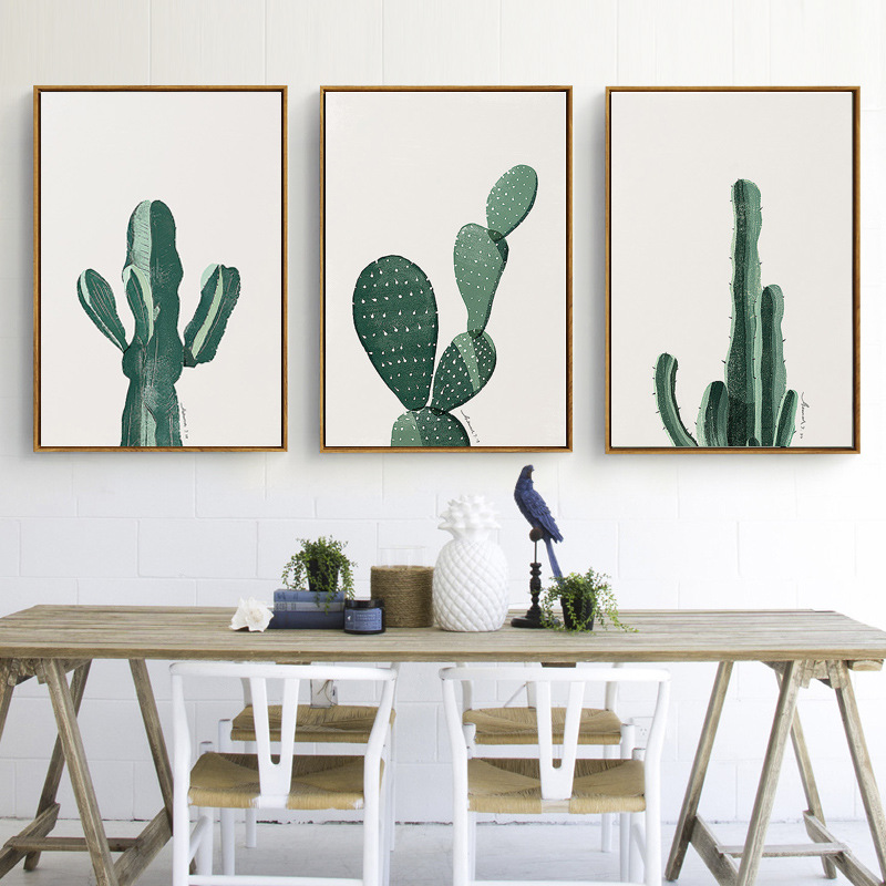 New Nordic Green Fresh Cactus Pictures Art Prints Poster