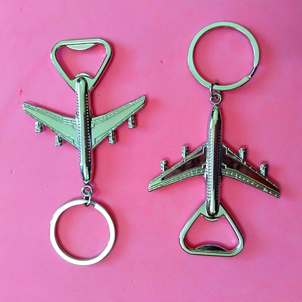 100 Pcs High Grade Helicopter airliner Combat aircraft airplane keychain Wine opener keychain Key Ring Key