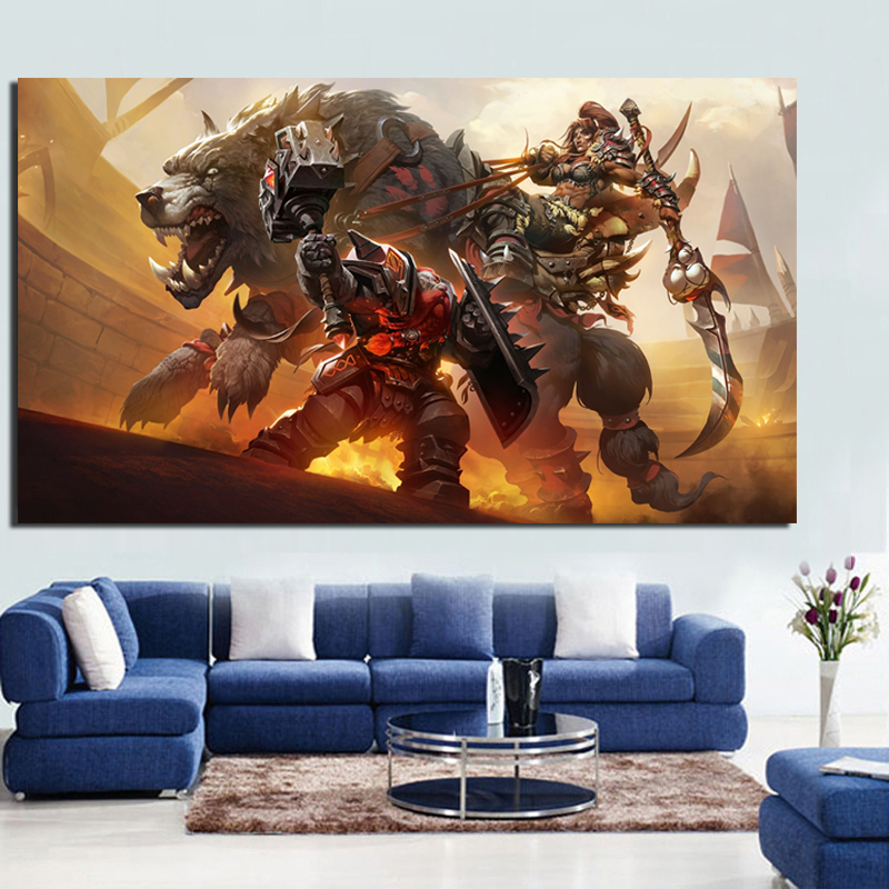 World Of Warcrafts Battle For Azeroth Canvas Painting Print Living Room Home Decoration Modern Wall Art Oil Painting Posters HD in Painting Calligraphy from Home Garden