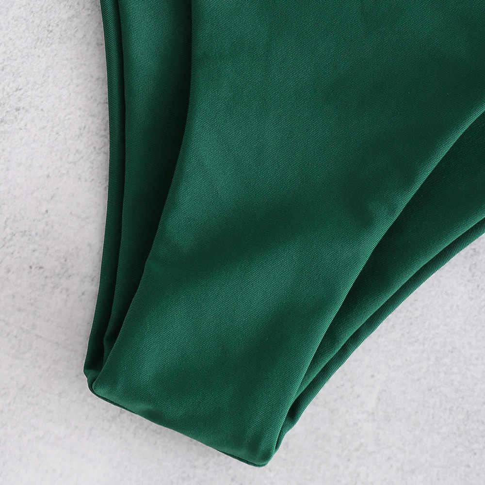 Bikinx Купальник бандо зеленый пуш-ап купальник женский кактус принт бикини 2019 сексуальный купальный костюм пляжные купальники бикини микро набор