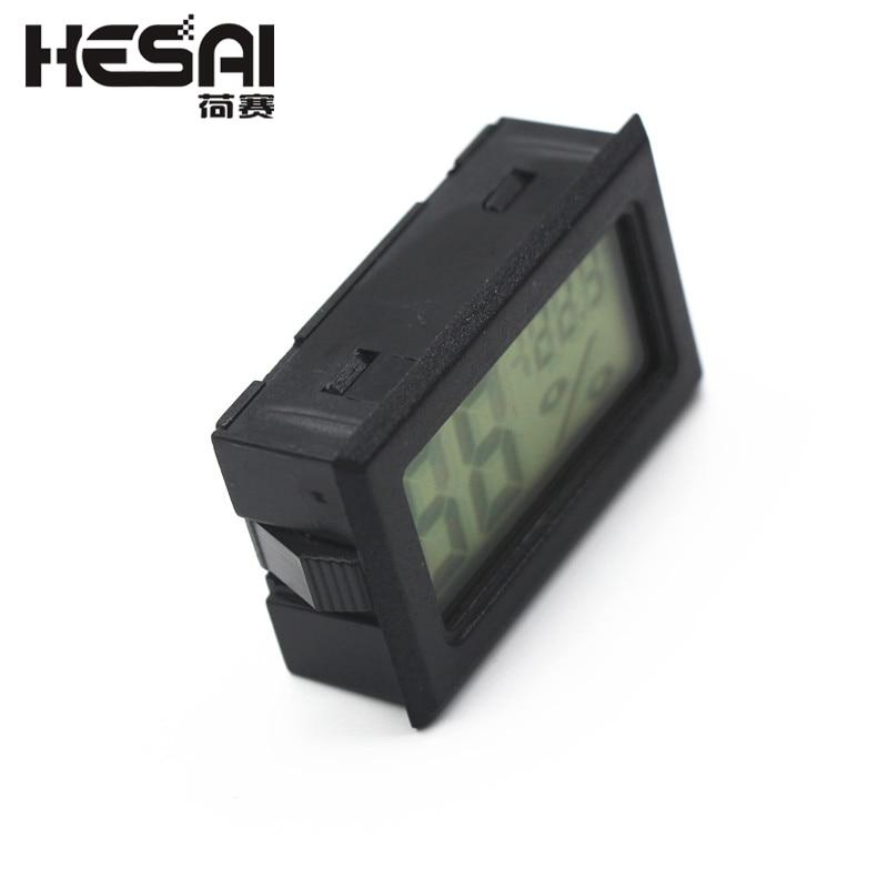 Mini LCD cyfrowy czujnik temperatury i wilgotności higrometru z - Przyrządy pomiarowe - Zdjęcie 2