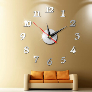 Modern Large Wall Clock 3d Mirror Sticker Unique Big Number Watch Diy Decor Wall Clock Art Sticker Decal Home Modern Decoration(China)