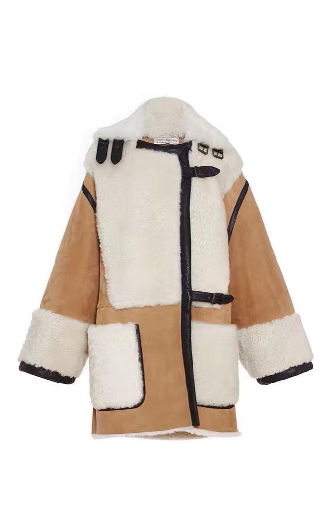 Nov prihod iz ovčje kože in krznene jakne Trend Style Merino ovčje - Ženska oblačila - Fotografija 6