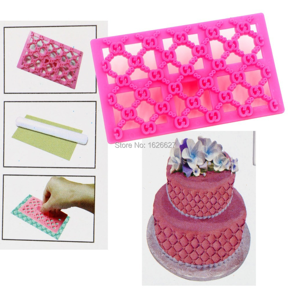 Quilting Embosser Pastry Mold Icing Cake Decor Cookie Fondant Cake Cutters Tool