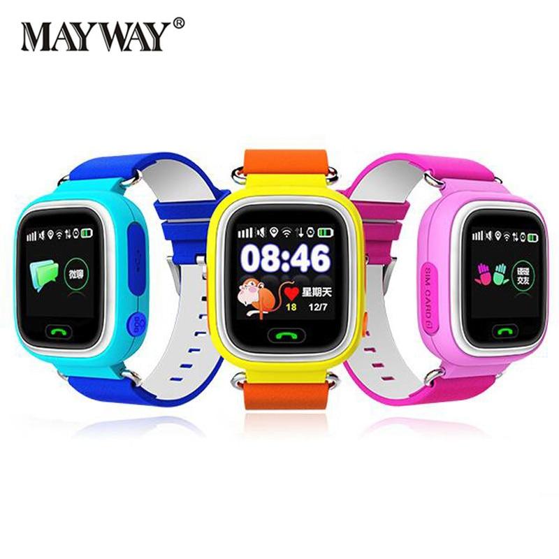 Bluetooth Children Smart Watch Kids Q90 Intelligent Clock SIM Card Anti-Lost Location Watch Device Tracker English Russian
