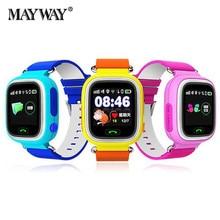 Tarjeta sim reloj inteligente bluetooth niños smart watch kids q90 anti-perdida reloj localización dispositivo rastreador inglés ruso