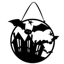 New Halloween Non-woven Door Hanging Decoration Haunted House Bat Terror  Festival Party Supplies