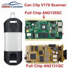 DHL полный чип может зажимать для интерфейс диагностики CYPRESS AN2131QC AN2135SC программное обеспечение V178 Can-Clip диагностический адаптер Золотой блок управления процессором