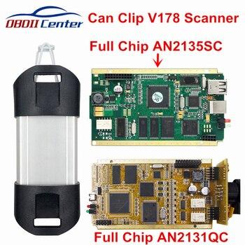 DHL pełny chip Can Clip V190 do interfejsu diagnostycznego CYPRESS AN2131QC AN2135SC oprogramowanie V178 Can-Clip adapter diagnostyczny złoty PCB