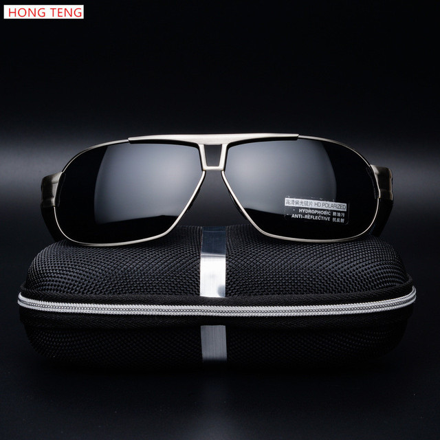 Hong Teng New Arrivals Polarized Sunglasses Men Square Brand Designer Out Door and Fun Glasses with Box Free Shipping