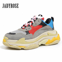 Jady Rose 2018 New Women Sneakers Flat Travel Shoes Lace Up Platform Creepers Female Casual Flats