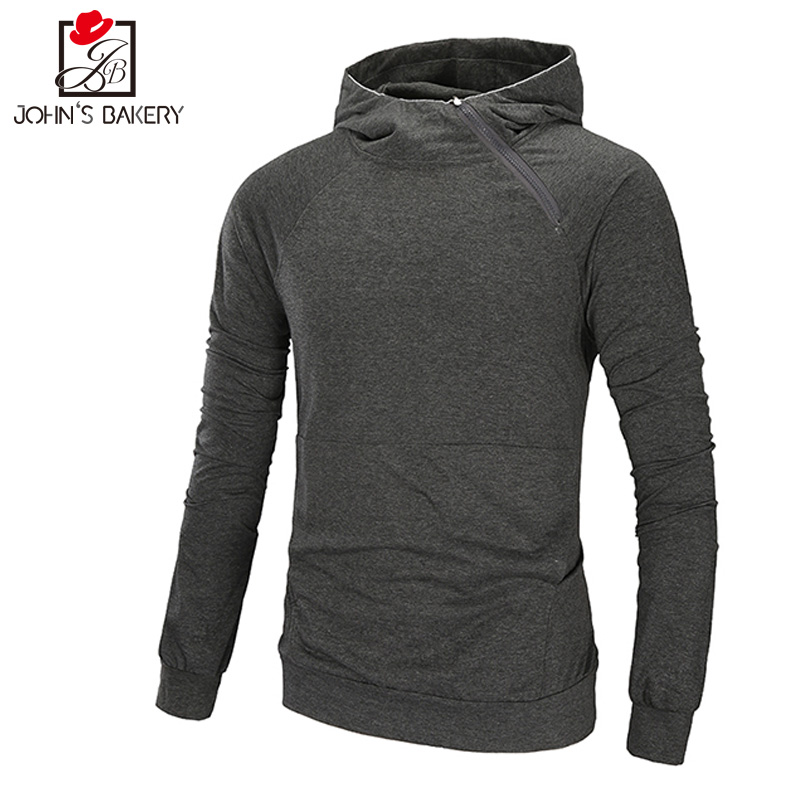 New Hoodies Men 2018 Male Long Sleeve Hoodie Thin Section Oblique Pull Sweatshirt Mens Moletom Masculino Hoodies Slim Tracksuit
