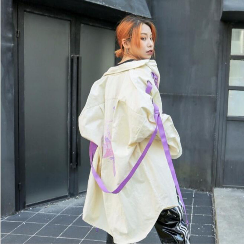 Lâche Manteau Femmes Bonu Nouvelle blanc Bomber vent Vintage De Base 2018 Coupe Oversize Harajuku Noir Veste Streetwear 6fEwHqxf