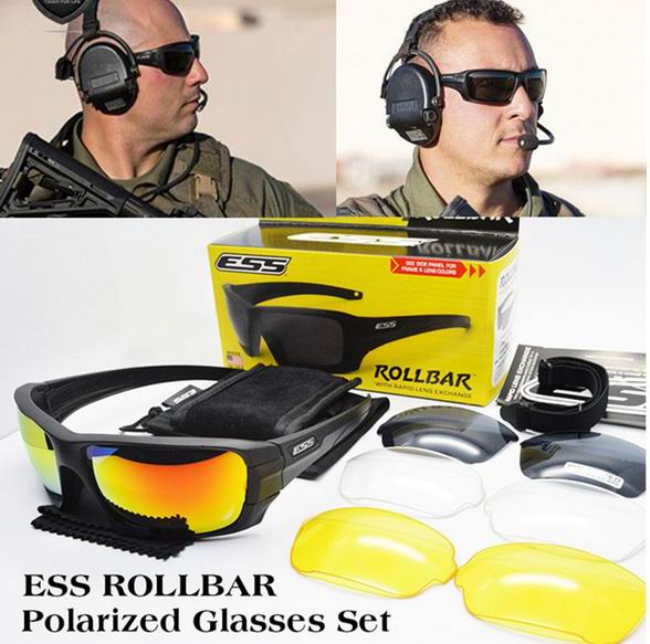 ESS ROLLBAR Polarized Tactical Out door Sunglasses UV protection Military Glasses TR90 Army Google Bullet proof