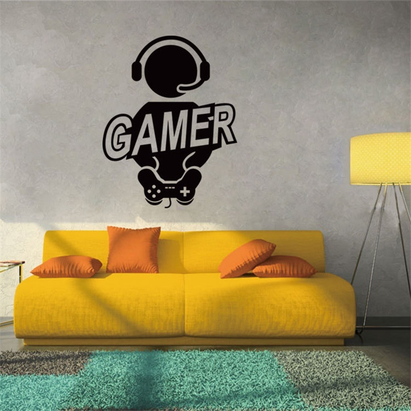 New Style Fashion 4 Colors Play Game Vinyl Wall Stickers Gamer Xbox Boy Bedroom Decoration Art Murals Home Decor Posters