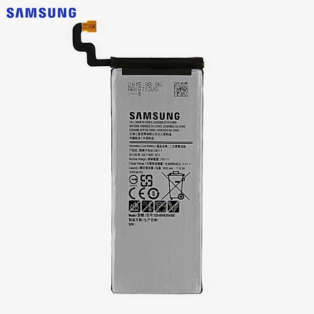 SAMSUNG Original Replacement Phone Battery EB-BN920ABE For Samsung GALAXY Note 5 N9200 N920t N920c Note5 SM-N9208 N9208 3000mAh