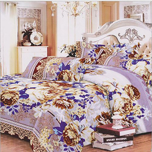235cm 50cm piece 100 cotton purple flower printed cotton fabric for Baby Bedding Textile Patchwork Quilt