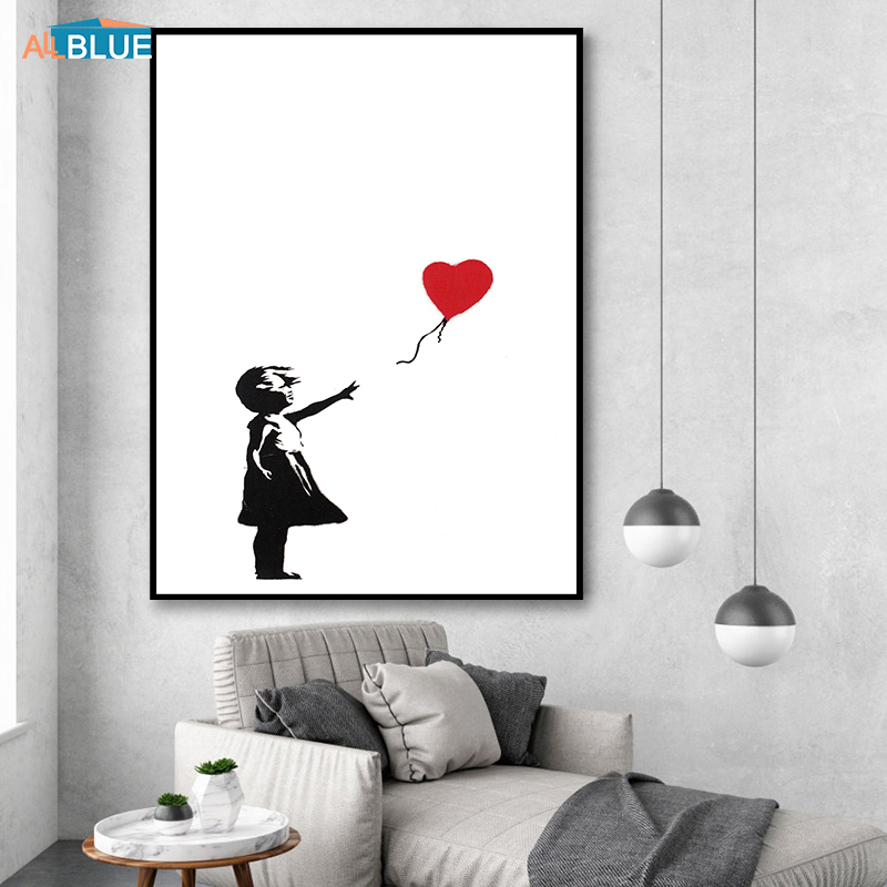 Banksy Canvas Art Print Wall Art Canvas Painting Nordic Posters And Prints Wall Pictures For Living Room Abstract Cuadros Decor
