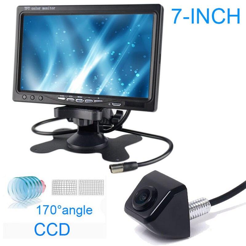 "7\"" <font><b>LCD</b></font> TV/DVD screen CCD Car Rear View Backup Reverse Parking Monitot Camera kit"