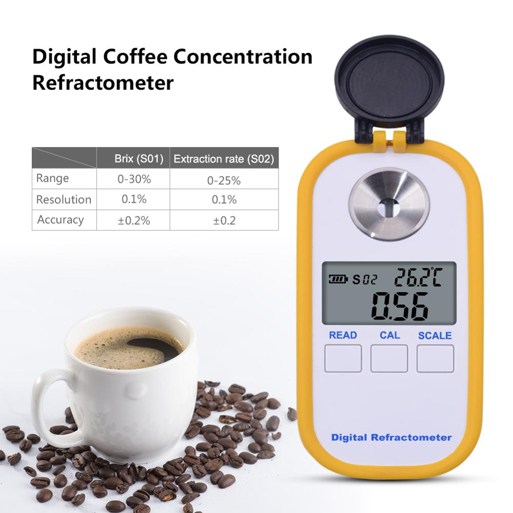yieryi 0 30 brix TDS 0 25 Coffee Sugar Meter Concentration Refractometer Digital Portable Electronic Refractometer
