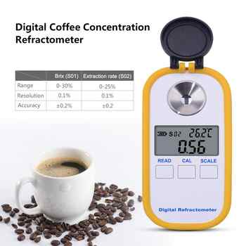 yieryi 0-30% brix TDS 0-25% Coffee Sugar Meter Concentration Refractometer Digital Portable Electronic Refractometer - DISCOUNT ITEM  23% OFF All Category