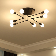 Retro Industrial Wind art Pipe Wrought Iron Ceiling Light personality creative 6/8 Heads E27 Ceiling Lamp for Home Restaurant цена