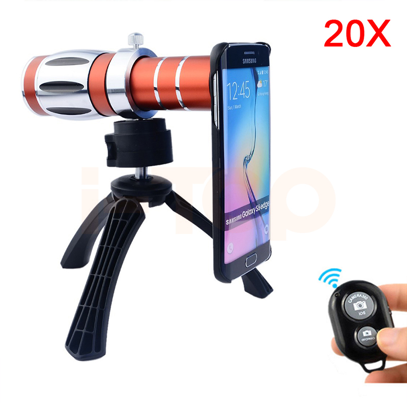 2017 20x Optical Zoom Telephoto Telescope Lens For Samsung iPhone 4 4s 5 5s 6 6s 7 Plus Cases Tripod Mobile Phone Camera Lentes